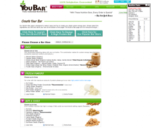 Custom Energy   Protein Bars You Design Yourself   Youbars   Buildabar