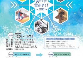 【チラシ】スーパー雪あそび2018